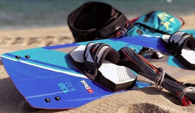 Gear For Kiteboarding On Beach