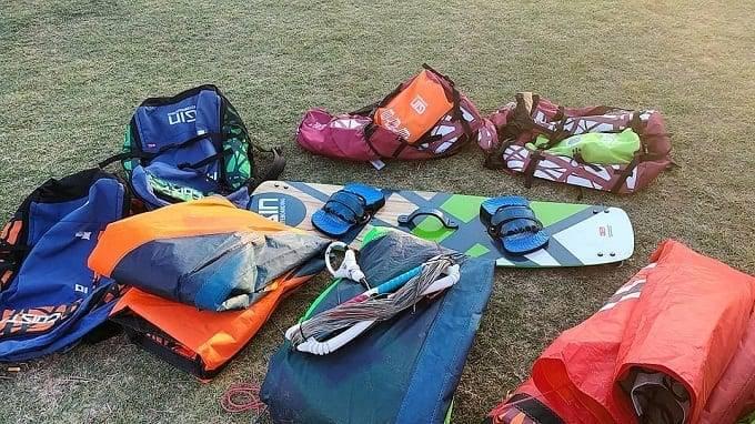 Gear For Kitesurf On Ground