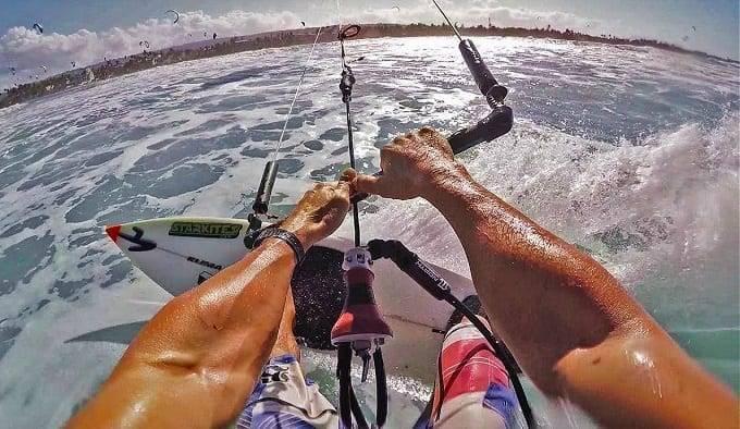 Kitesurfing POV