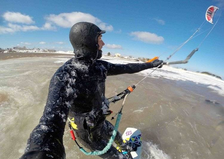 Kitesurfing in Nova Scotia