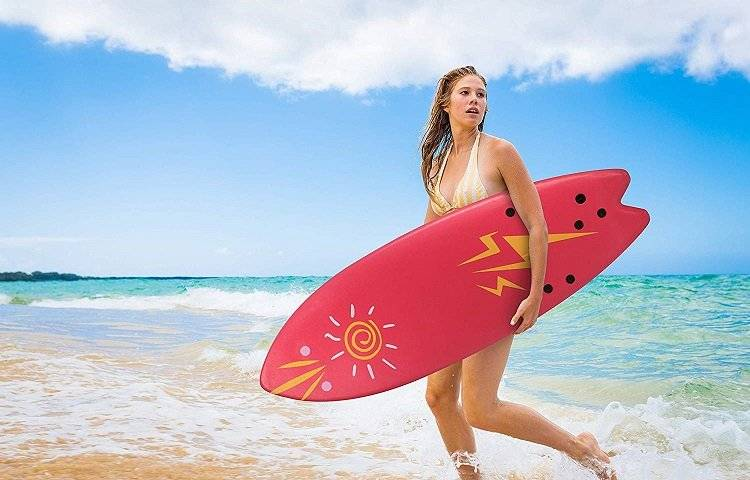juggete board and surfer girl