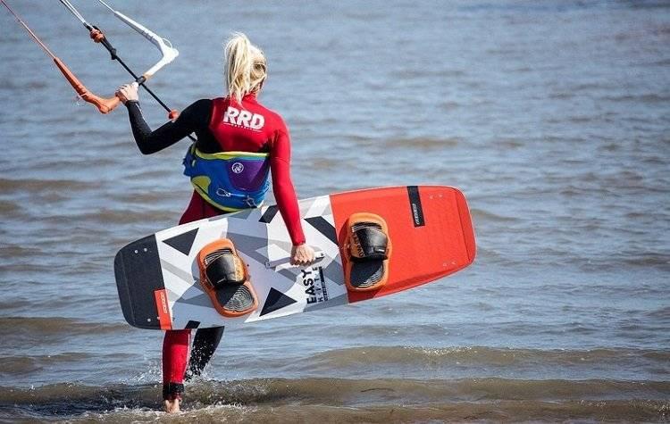 woman in kitesurfing wetsuit