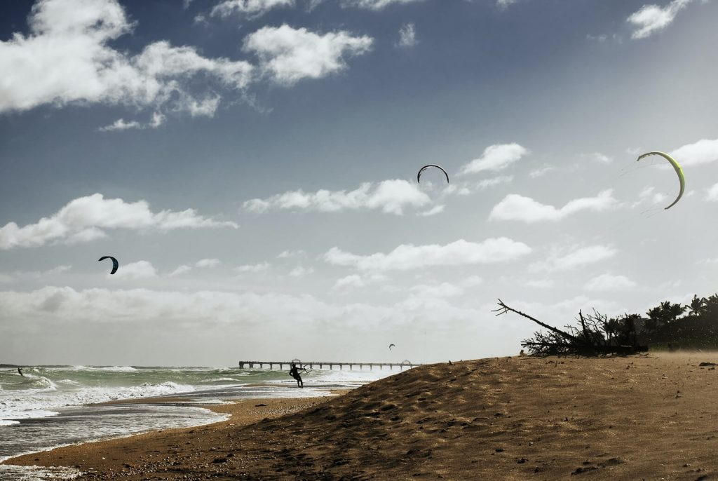 Kitesurfing in Jupiter. Florida