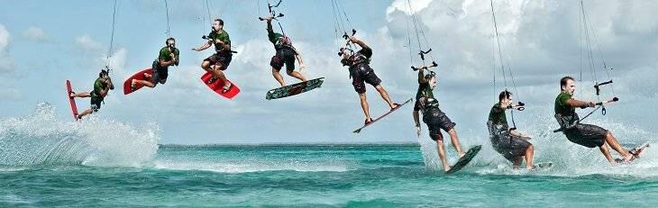 man kitesurf downloop