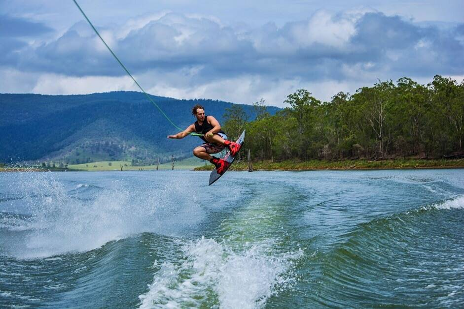 a wakeboarding jump